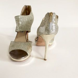 Jimmy Choo Private Champagne Glitter Sandals(9.5)